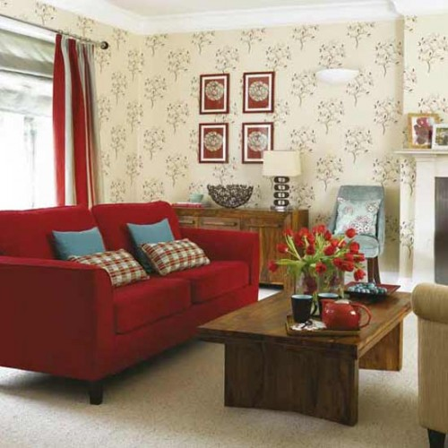 2012 Designs Interior with Luxurios Wallpaper Living Room Ideas