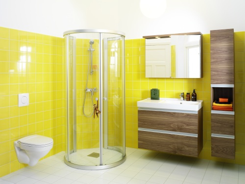 2012 Yellow Bathroom Design Trendy