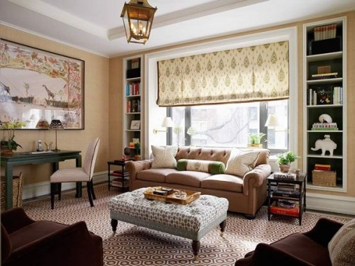 Beauty Family Room Setting with Modern Furniture