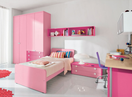 Beauty Girls Bedroom Design Interior