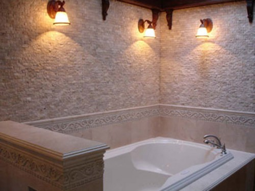 Beauty Natural Stone Bathroom Desigsn Art