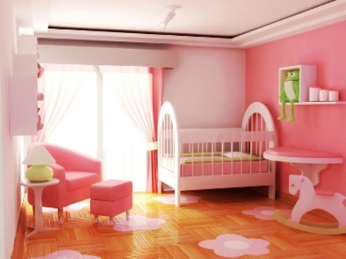 Beauty Pink Baby Room 500x375 Effect of Color Clear In Babys Room