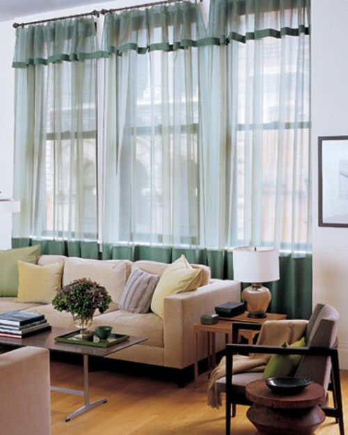 Best Living Room Curtain Design for 2011