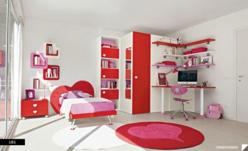 Best Red Teen Bedroom Ideas on 2012