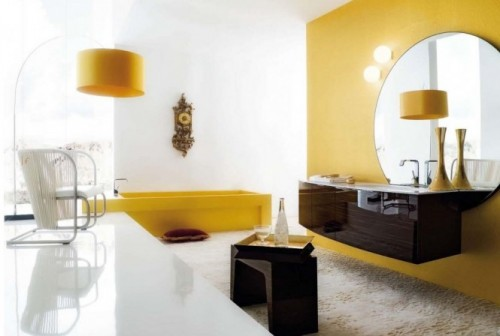 Best Yellow Bathroom with Modern Concept
