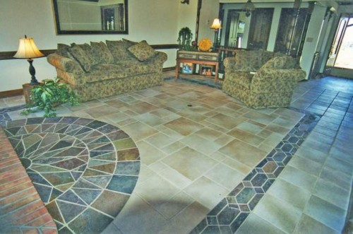 Classic Home with Natural Stone Flooring Inspiring