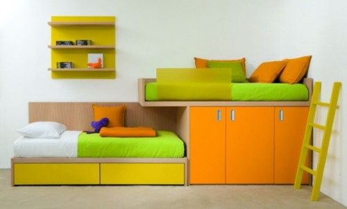 Colorful Twins Children Bedroom Designs