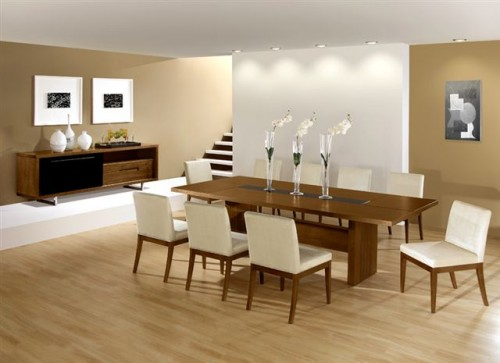 Elegant Modern Furniture Dining Room Decorating Ideas