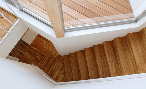 Elegant Modern Wood Stairs Home Design 500x307 Stair Shape from Wood Stairs