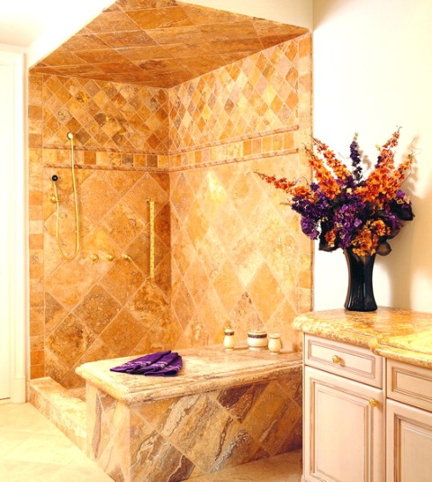 Elegant Natural Stone Bathroom Concept Designs