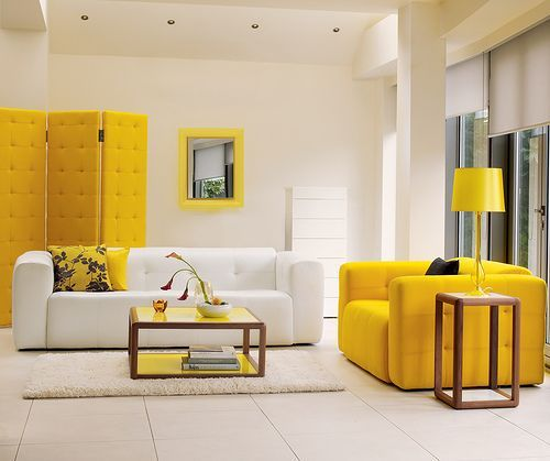 Elegant Yellow Living Room Concept Designs