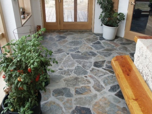 Excellent House with Natural Stone Flooring Design Architecture
