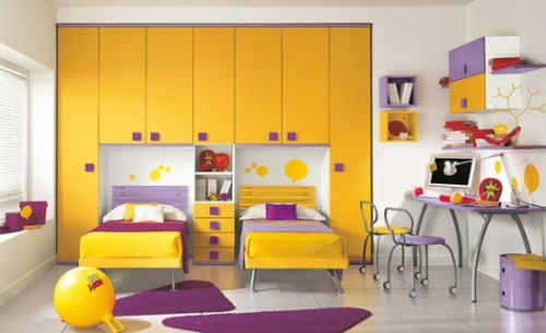 Excellent Yellow Children Room Design in 2012