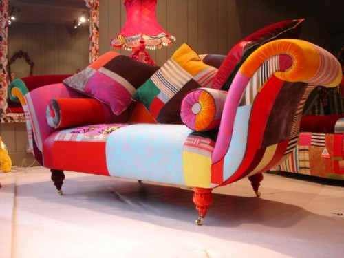 Full Color Small Sofa Design