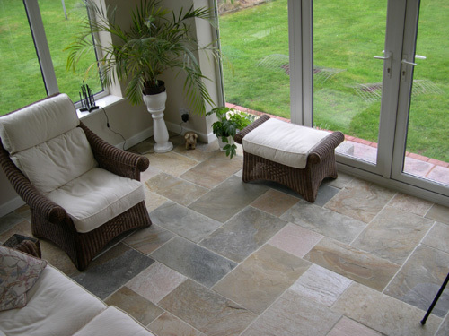 Glamorous Natural Stone Flooring House