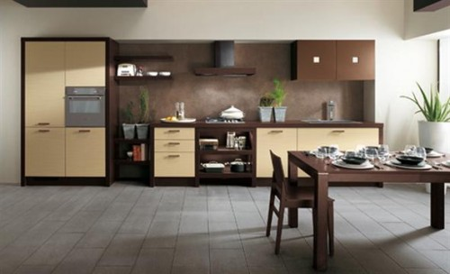 Kitchen Design Ethnic Brown Interior