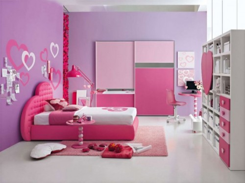 Luxurious Girls Bedroom Design Concept Art