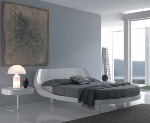 Luxury Bedroom Lighting Design Concept with Floor Lamp Art