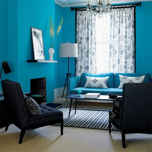 Luxury Blue Living Room Art in 2012 500x500 The Living Room Beautiful And Fresh!