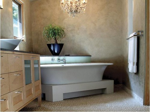 Minimalist Natural Stone Bathroom Designs Architecture