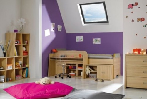 Minimalist Purple Child Room Model 500x338 Room For The Kids purple Comfortable and Attractive