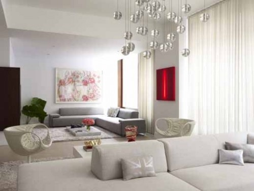 Minimalist White Family Room Designs Art