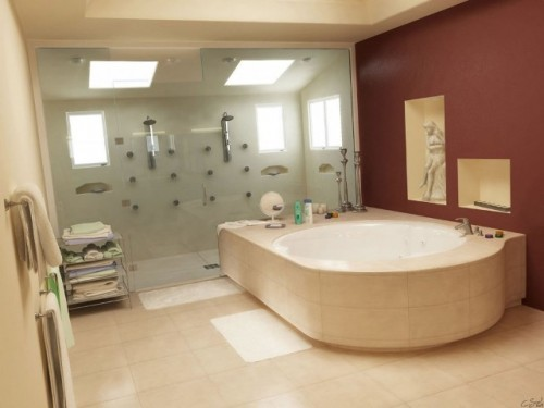 Modern Bathroom Lighting Architecture for 2011
