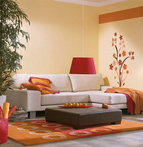 Modern Living Room Wall Type Design
