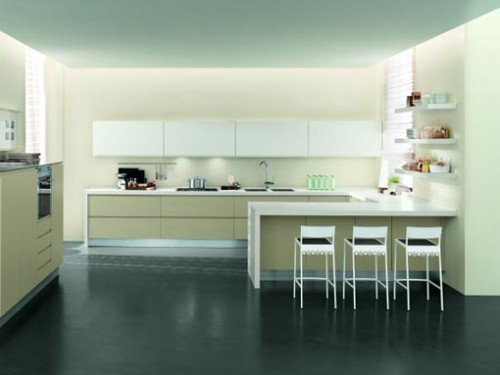 Modern Minimalist Kitchen Interior Art