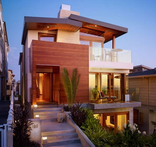 Modern Tropical Home Desigsn with Exterior Art