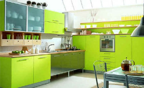 Natural Green Kitchen Designs Concept Wall