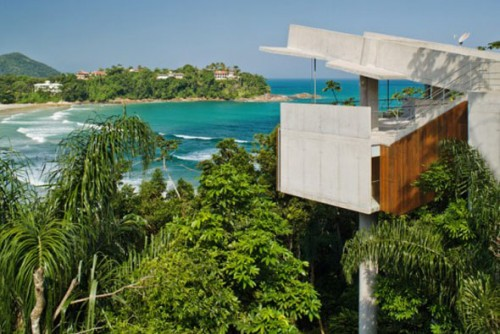 Natural Tropical House on Side Beach Designs Architecture 500x334 Modern Tropical House Design Architecture