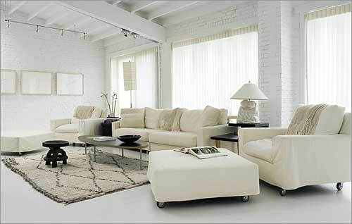 New Living Room White Wallpaper Designs