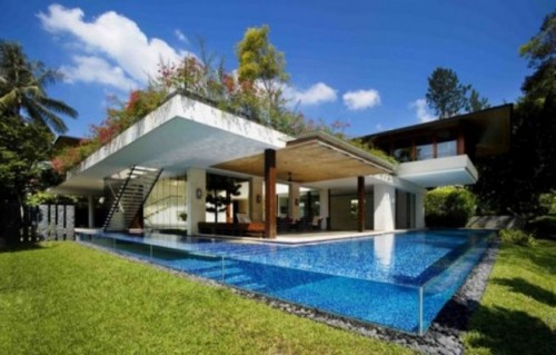 New Tropical House Designs for Luxury Architecture 500x319 Modern Tropical House Design Architecture