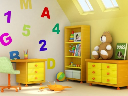 Nice Child Room with Luxury Interior Art