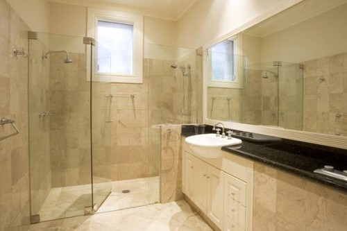 Nice Natural Stone Bathroom Designs on 2012