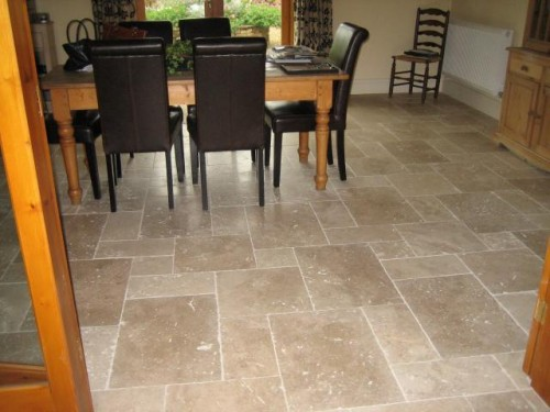 Nice Natural Stone Flooring for Dinning Room