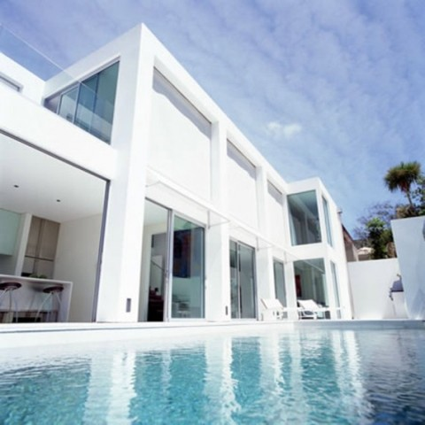 Nice White Minimalist Home Design Color Art
