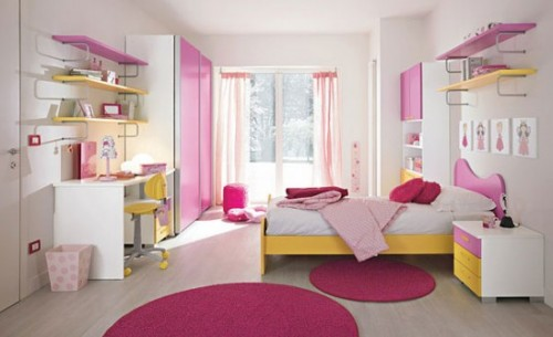Pink Designs with Children Room Art
