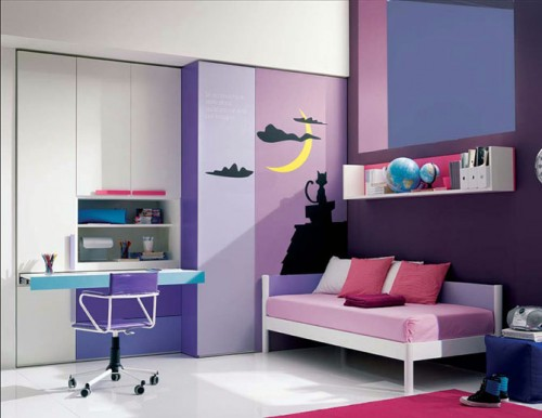 Pink Purple Study Room Design for 2012 Child Room 500x386 Alloy Pink Purple For A Fun Kids Study Room