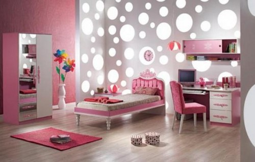 Pink Study Room Art Ideas 500x318 Alloy Pink Purple For A Fun Kids Study Room