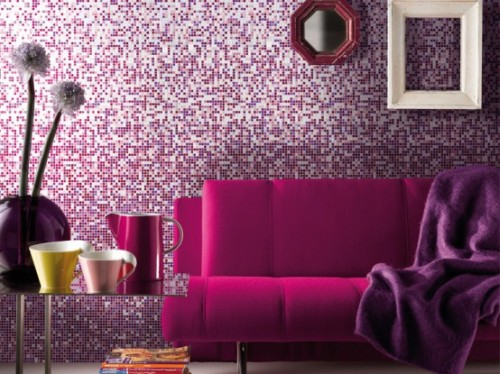 Purple Family Room Design on 2012