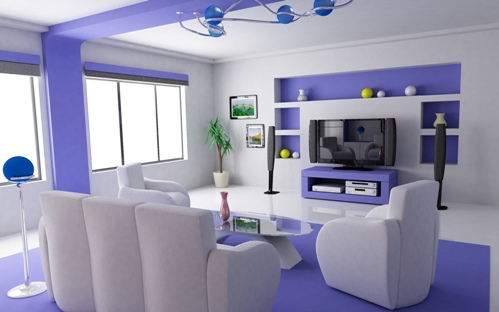 Purple Family Room