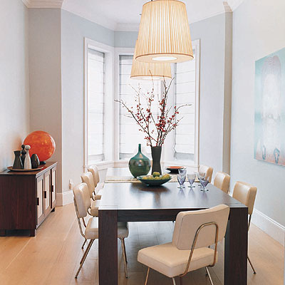 Simple Lighting Dining Room Picture