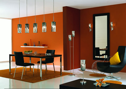 Simple Modern Dining Room Decorating Ideas with Lighting