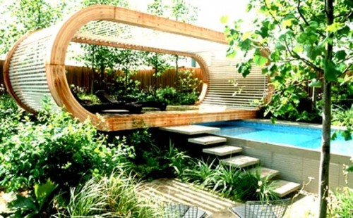 Unique Garden Home Designs Outdoor 500x310 Basic Concepts of Modern Minimalist Garden