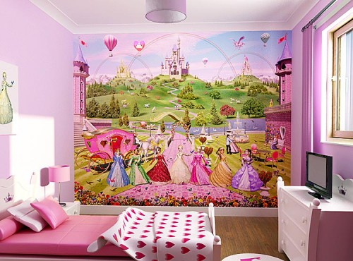 Wallpaper Murals For Kids Cinderella Concept