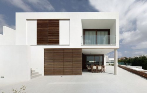 White Minimalist Home Architecture Designs