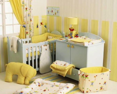 Yellow baby room design ideas 500x401 Amazing Baby Room Decorating Ideas