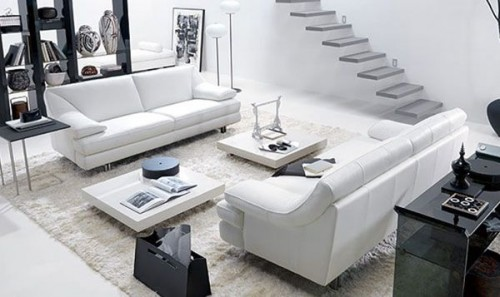 Living Room With White Concept Design Ideas